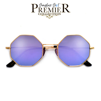 Premier Collection-Geometric Octaganol Shape Boho Chic Sunnies