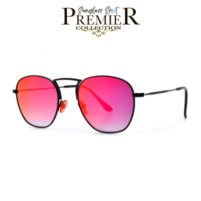 Premier Collection-Slim Retro Modern High Nose Bridge Sunnies