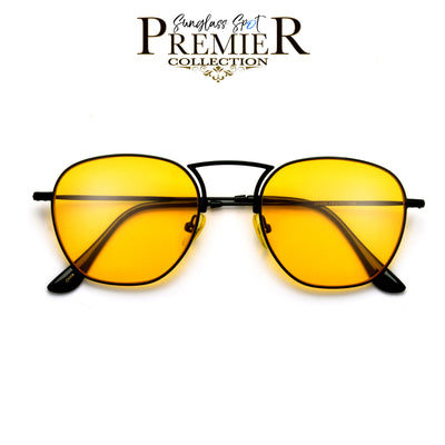 Premier Collection-Slim Retro Modern High Nose Bridge Sunnies - Sunglass Spot