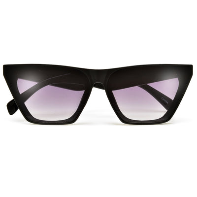 Retro Angular Flat Top Cat Eye Sunnies