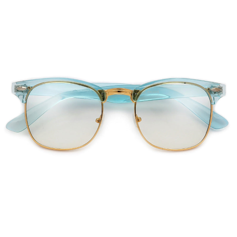 Crystal Frame Stylish Half Frame Clear Eyewear - Sunglass Spot