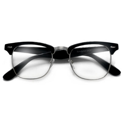 Classic Half Frame with Crystal Clear Lens Stylish Glasses