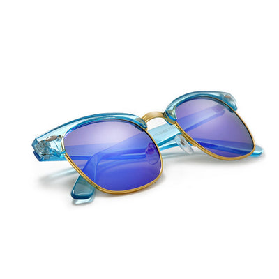 Bright and Colorful Half Frame Sunglasses