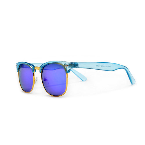 Bright and Colorful Clubmaster Style Sunglasses