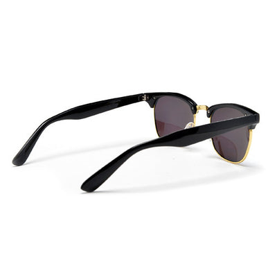 Retro Half Frame Colorful Reflective Mirrored Lens Classic Half Frame Sunglasses - Sunglass Spot