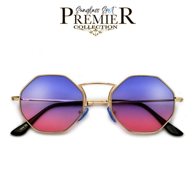 Premier Collection-Geometric Octaganol Shape Minimalist Sunnies