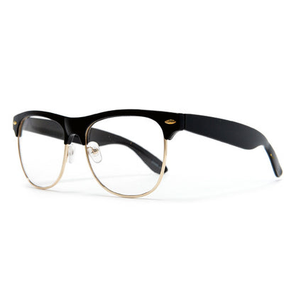 Retro Inspired Half Frame Clear Lens Eye Wear Glasses - Sunglass Spot