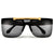 FLIP UP FLAT TOP HIGH FASHION RIMLESS SHIELD SUNNIES