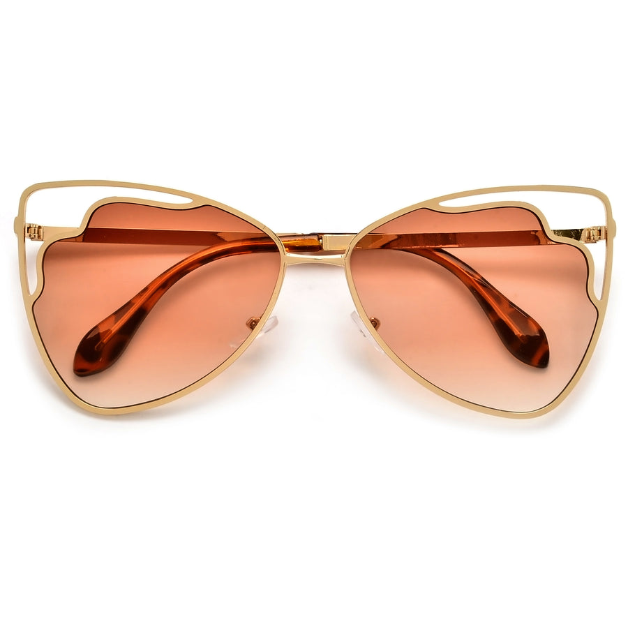Oversize Cut Out Lens Butterfly Sunnies