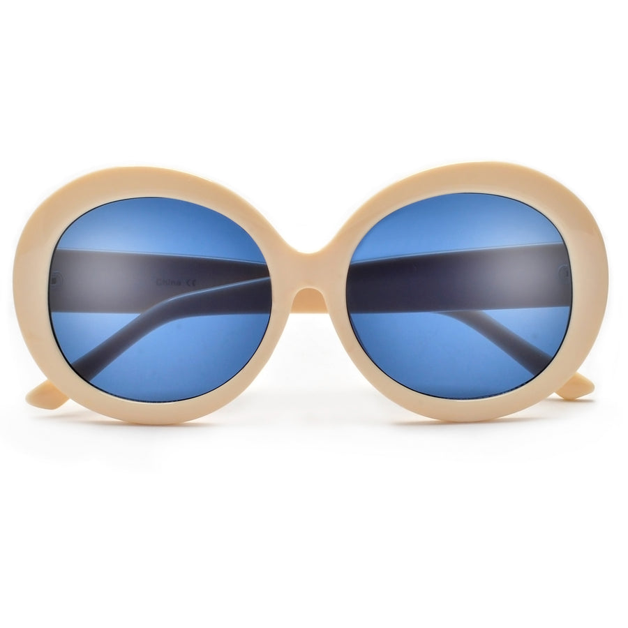 Oversize Retro Flair Stylish Round Sunnies