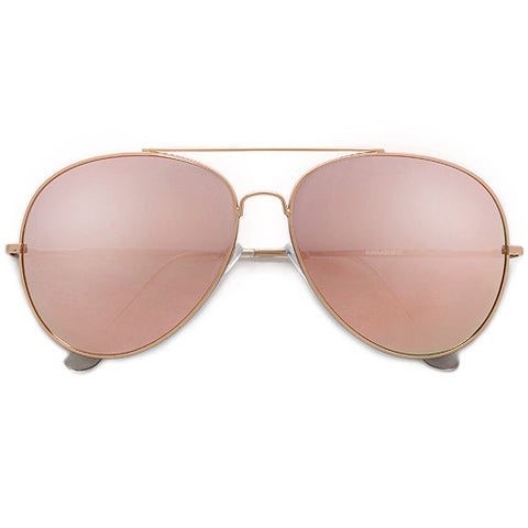 61mm Oversize Stylish Modern Rose Gold Aviator
