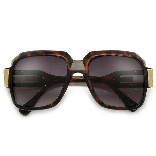 "80s Rap Band ""Run DMC"" Signature Inspired Square Frame Sunglasses"
