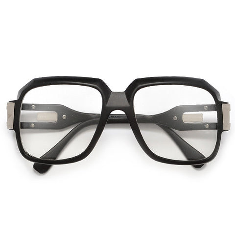 "80s Rap Band ""Run DMC"" Signature Inspired Square Frame Eyewear Glasses"