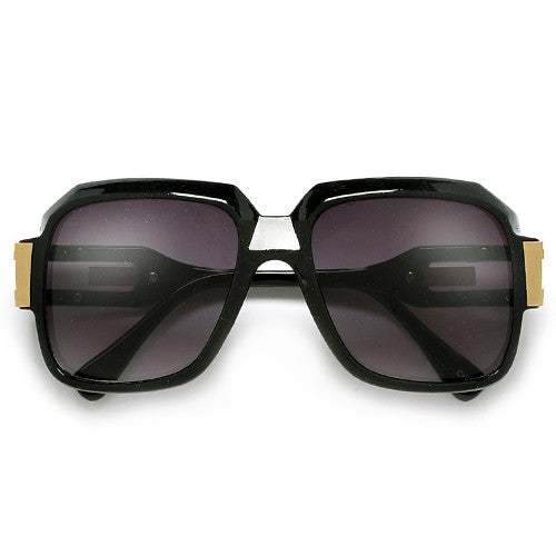 "80s Rap Band ""Run DMC"" Signature Inspired Square Frame Sunglasses - Sunglass Spot"