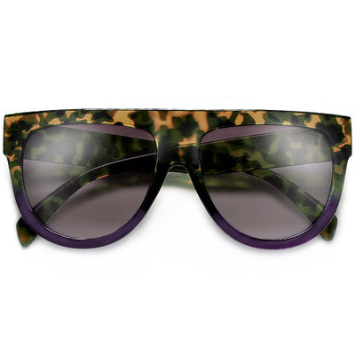Designer Inspired Flat Top Shadow Sunglasses