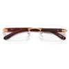 Rimless Wood Temple Stylish Eyewear - Sunglass Spot