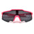Amped Up Angular Flat Top Sporty Shield Sunglasses