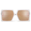 Oversize Bold Full Coverage Square Silhouette Sunnies - Sunglass Spot