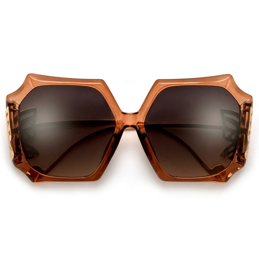 Oversize Showstopping Butterfly Sculpted Sunnies