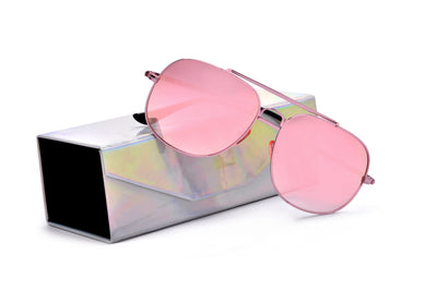 Foldable Iridescent Protective Hard Case - Sunglass Spot