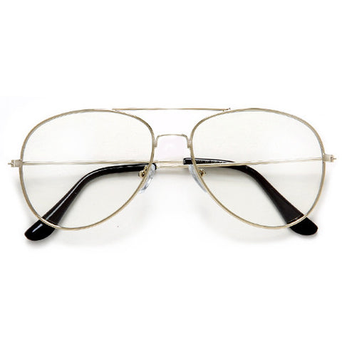 Retro Round Clear Lens Bottle Cap Frame Glasses