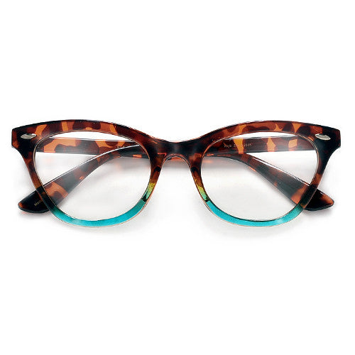 Vintage Inspired Cat Eye Silhouette Chic Trendy Reading Glasses - Sunglass Spot