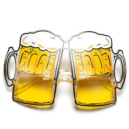 """ Lets Get Tipsy! "" Party Novelty Beer Glasses"
