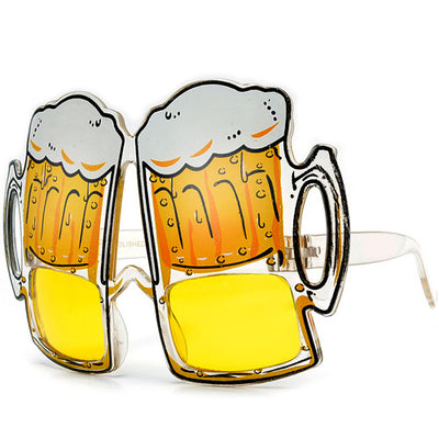 """ Lets Get Tipsy! "" Party Novelty Beer Glasses - Sunglass Spot"