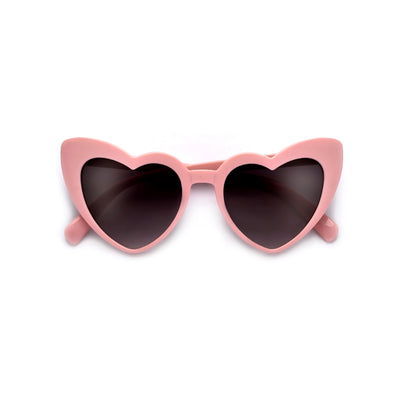 Kids Adorable High Tip Cute Heart Sunglasses - Sunglass Spot
