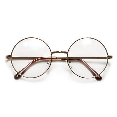 Vintage Lennon Inspired Round 51mm Clear Lens Eyewear - Sunglass Spot