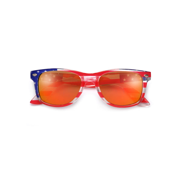Kids Patriotic Stars and Stripes Classic Sunglasses