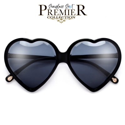 Premier Collection-Captivating Heart Shaped Diamond Feature Sunnies - Sunglass Spot
