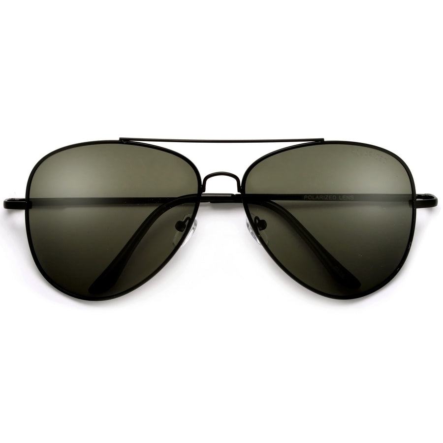 Polarized Glare Reducing 61mm Classic Tear Drop Aviator Sunglasses