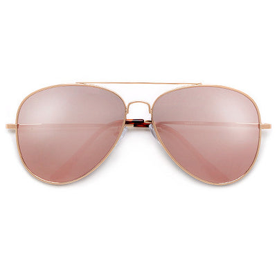 62mm Rose Gold Pink Ultra Chic Fashion Aviator - Sunglass Spot