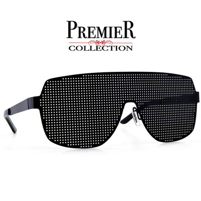 Premier Collection-Oversize Futuristic Mesh Grill Full Coverage Shield Eyewear - Sunglass Spot