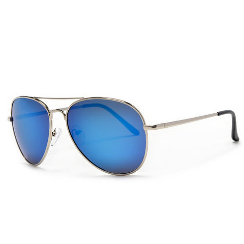polarized mirrored aviator sunglasses 28wk  Polarized 56mm Color Mirrored Silver Sleek Classic Aviator
