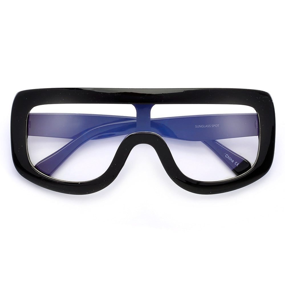 Oversize 138mm Bold Thick Shield Clear Eyewear