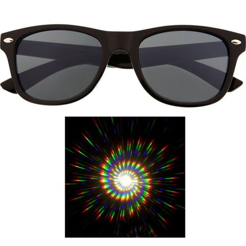 Party Rave Light Show Diffraction Lens Classic Wayfarer