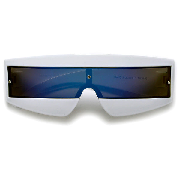 Futuristic Tron Shield Wrap Around Costume Party Shades