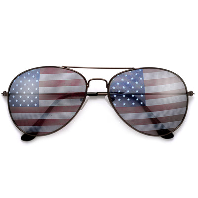 Patriotic U.S. Flag Aviator Sunglasses