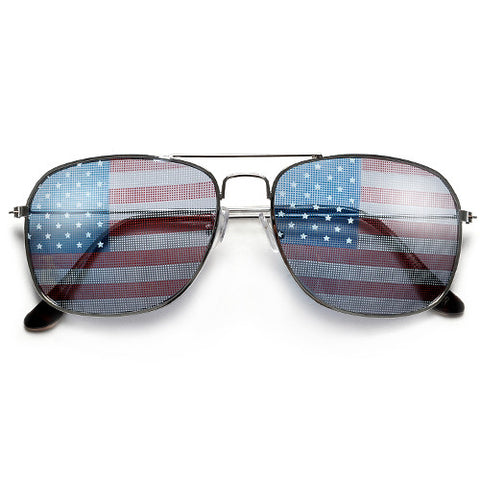 Patriotic Stars & Stripes U.S. Flag Classic Clear Glasses
