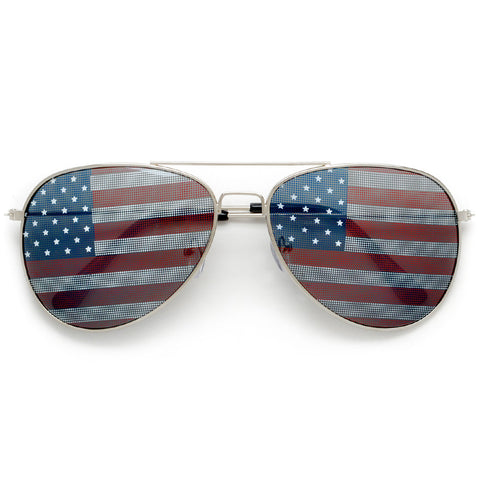 Patriotic American Flag High Fashion Cat Eye Sunglasses