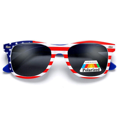 Polarized Anti-Glare American Flag Patriotic Sunglasses - Sunglass Spot