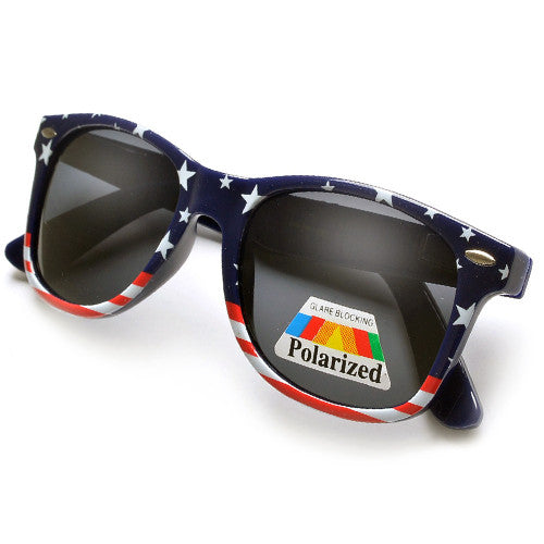 Polarized Patriotic Stars & Stripes U.S. Flag Sunglasses
