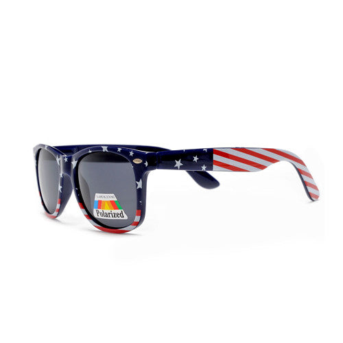 Polarized Patriotic Stars & Stripes U.S. Flag Classic Wayfarer Sunglasses