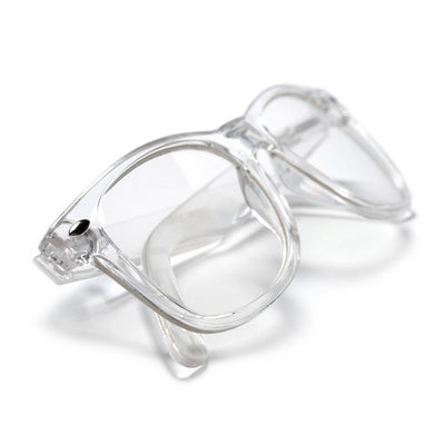 Crystal Clear Classic 80's Glasses