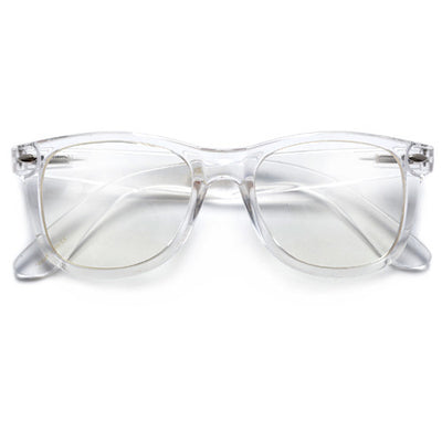 Crystal Clear Classic 80's Glasses - Sunglass Spot