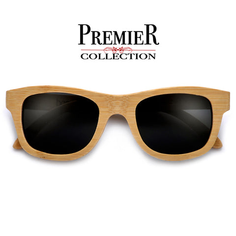Premier Collection-Polarized Genuine Handmade Bamboo Wayfarer Sunglasses