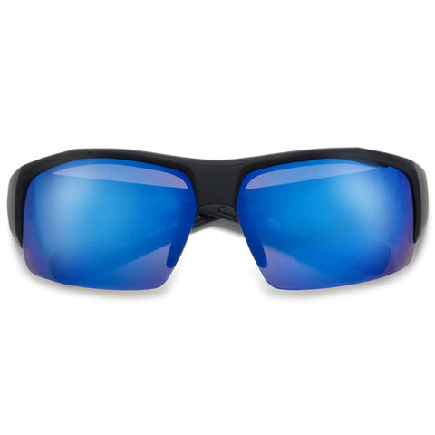 Polarized 64mm Men's Full Coverage Thick Temple Dark Shades