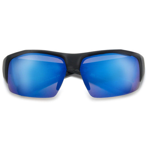 Sleek Matte Black Active Lifestyle Sports Sunglasses